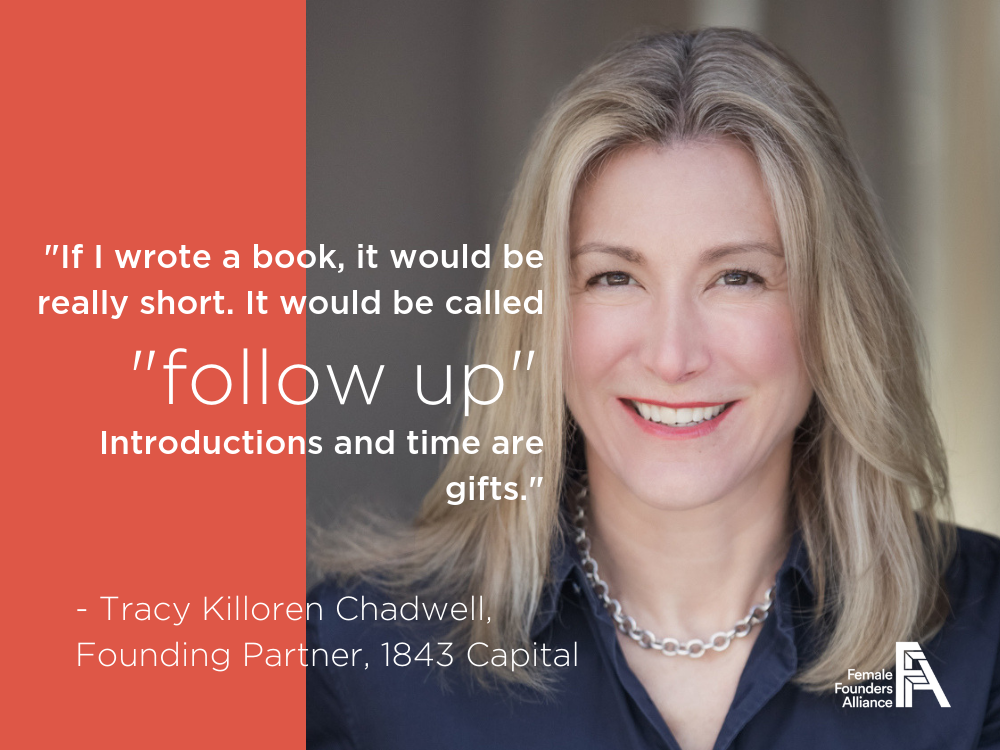 Investors, Innovators, Influencers – Tracy Killoren Chadwell, 1843 Capital