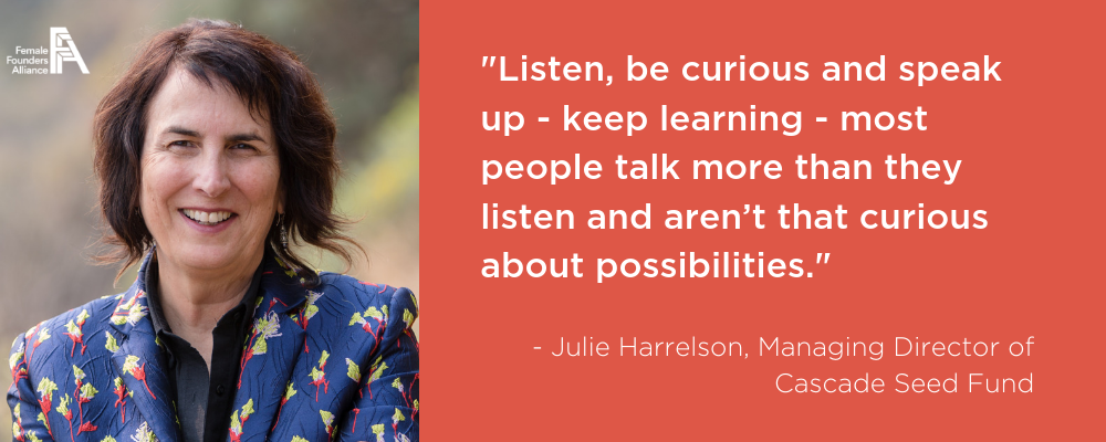 Investors, Innovators, Influencers – Julie Harrelson, Cascade Seed Fund