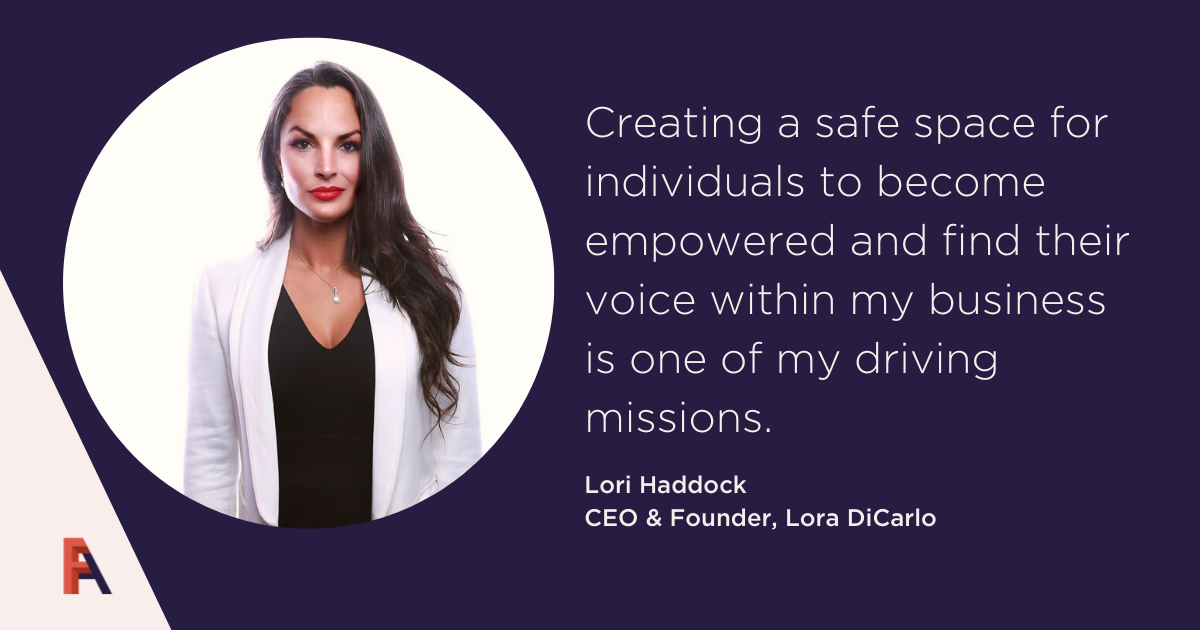 Female Founder Feature – Lora Haddock, Lora DiCarlo
