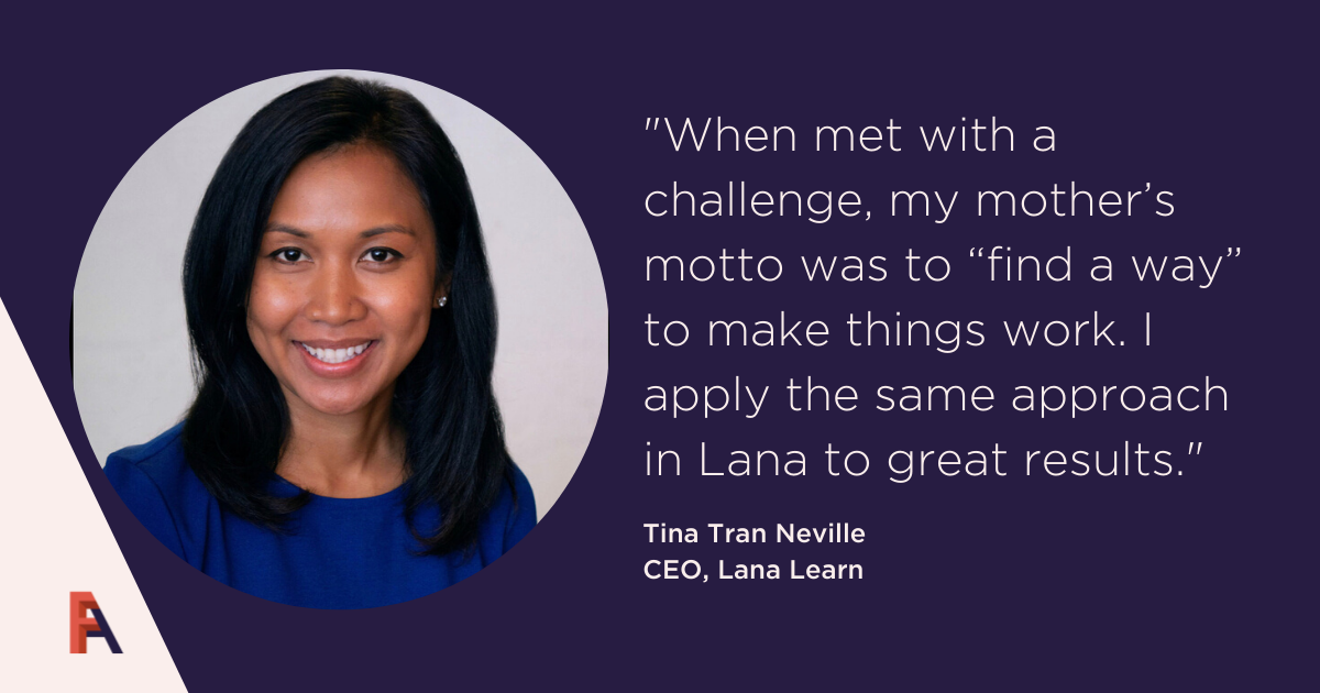 Female Founder Feature – Tina Tran Neville, Lanat