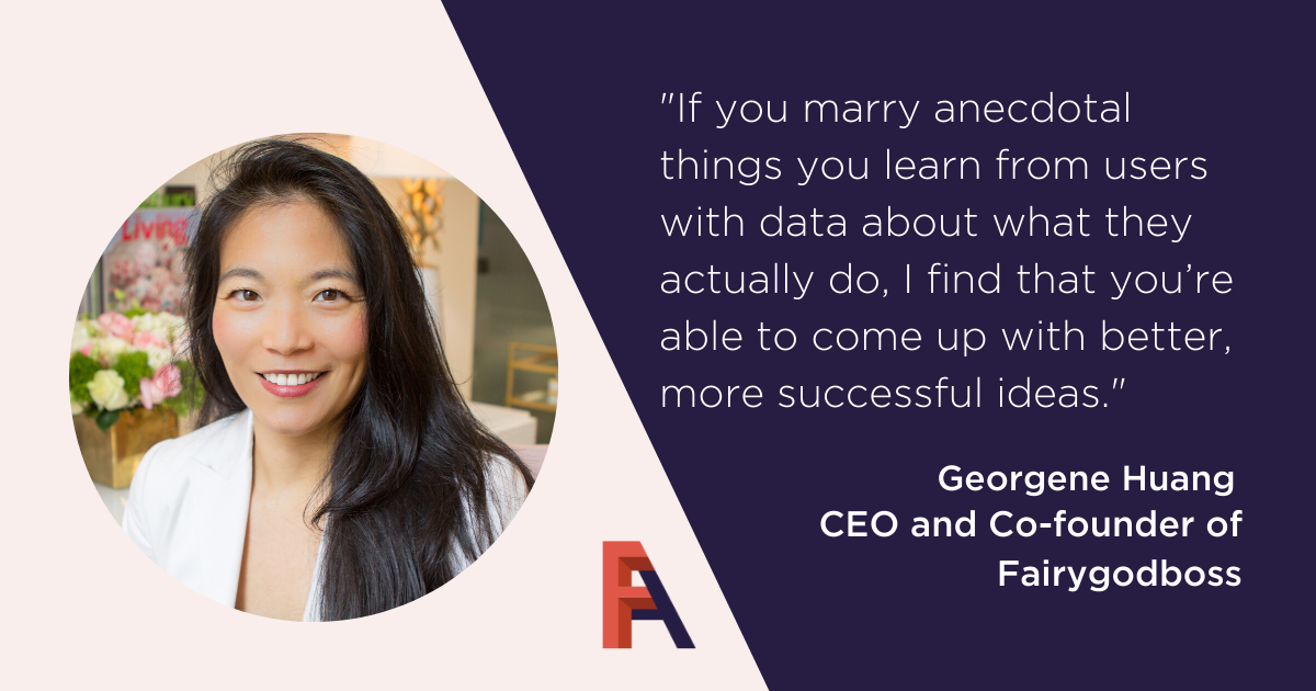 Female Founder Feature – Georgene Huang, Fairygodboss