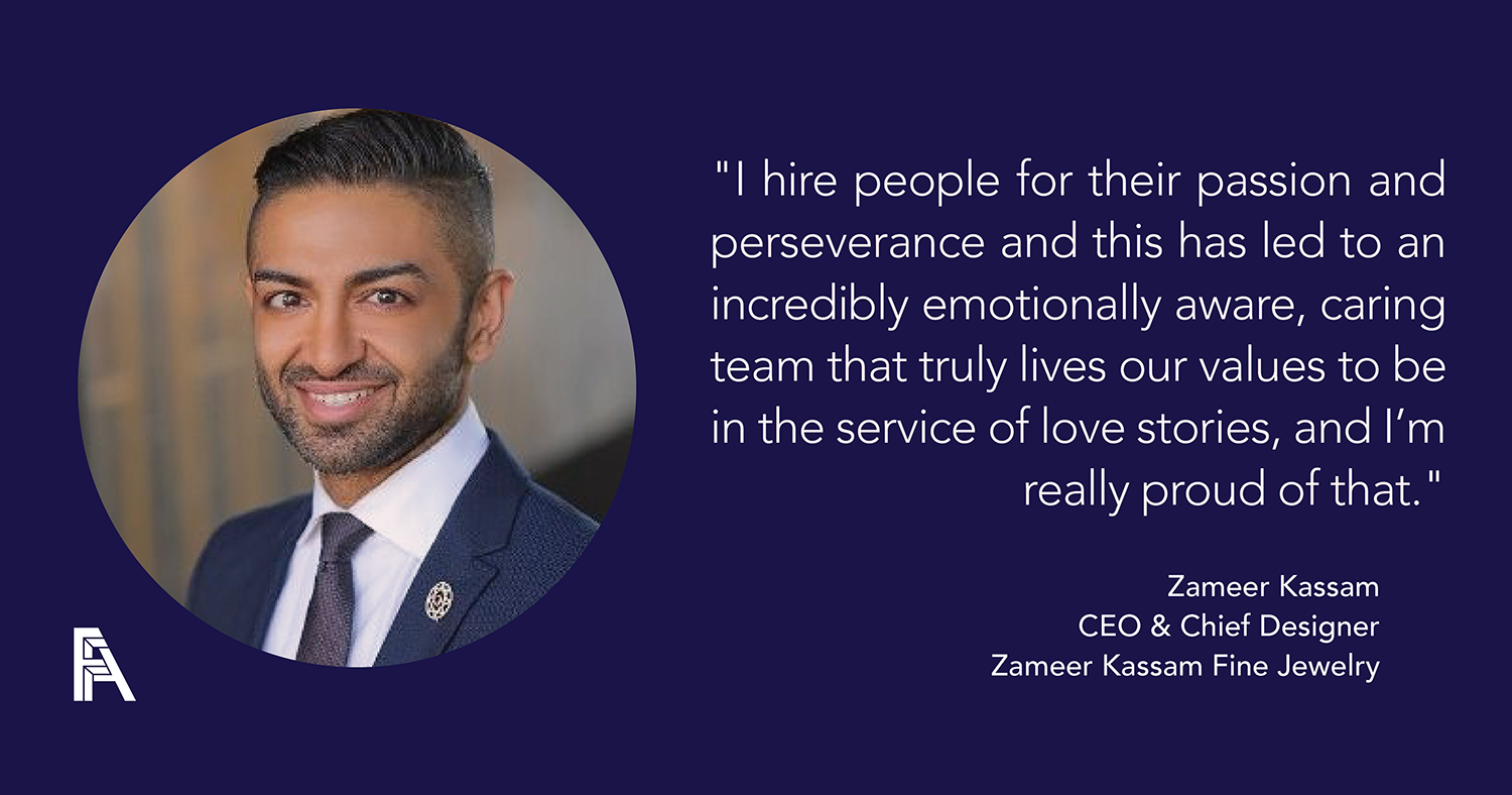 Founder Feature – Zameer Kassam, CEO, Founder, & Chief Designer — Zameer Kassam Fine Jewelry