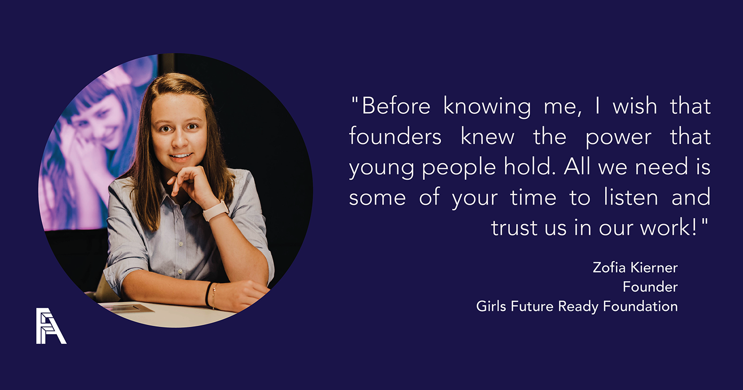 Investors, Innovators, Influencers – Zofia Kierner, Girls Future Ready Foundation