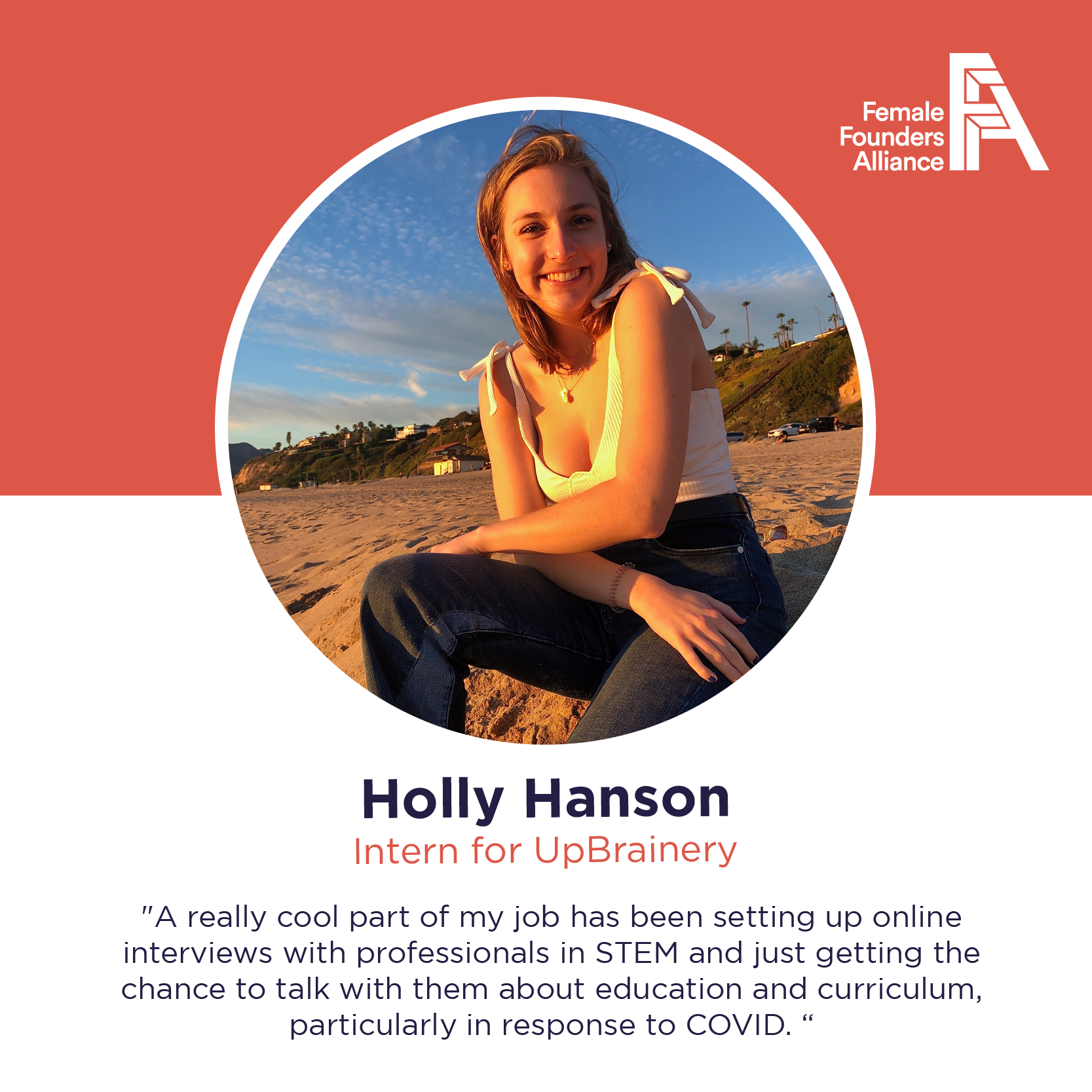 FFA Intern Feature- Holly Hanson, UpBrainery