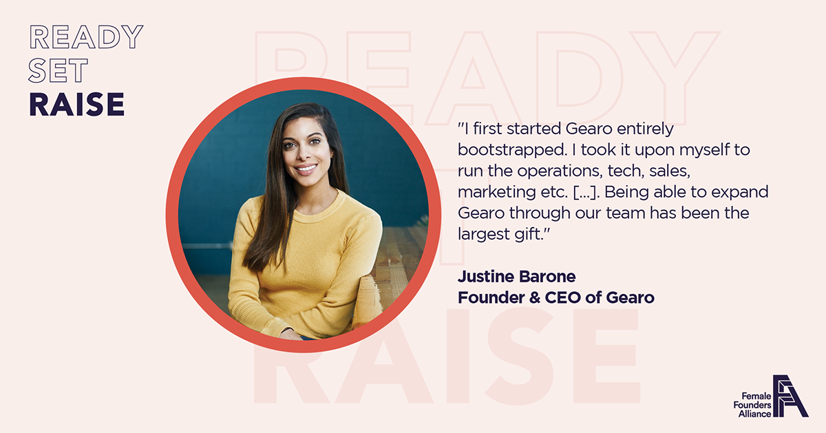 Female Founder Feature – Justine Barone, Gearo
